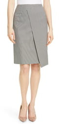 HUGO BOSS Vureta Mini Houndstooth Asymmetrical Skirt