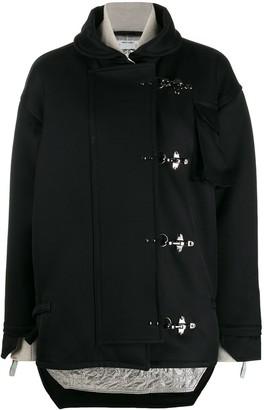 Off-White toggle oversized jacket