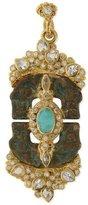 Armenta Sueño Blue Turquoise & Rainbow Moonstone Doublet Artifact Enhancer