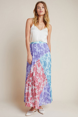 Violetta Pleated Maxi Skirt By Pankaj & Nidhi in Purple Size XS