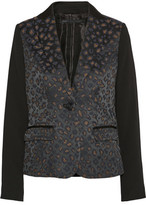 Marc by Marc Jacobs Sasha Paneled Cotton-Blend Jacquard And Crepe Blazer