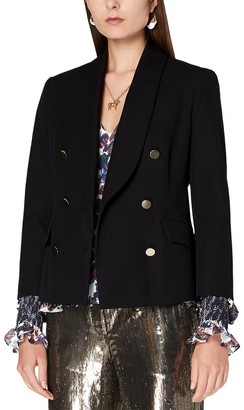 Derek Lam 10 Crosby Myra Double Breasted Crop Blazer