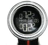 Gucci Digital Diamond 11 Ct Big Black Watch