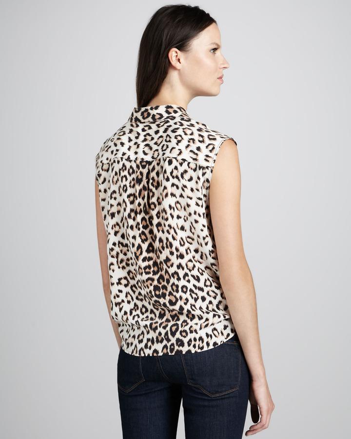 Equipment Diem Leopard-Print Blouse