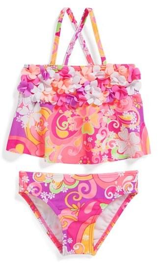 Hula Star 'Fantasia' Two-Piece Swimsuit (Toddler Girls)