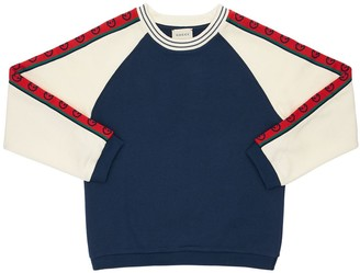 Gucci Cotton Sweatshirt W/ Logo Bands