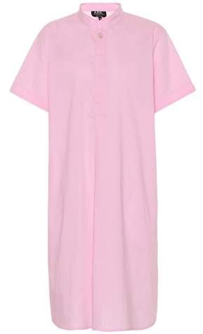 A.P.C. Agadir printed cotton shirt dress