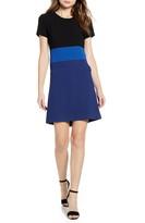 Karl Lagerfeld Paris Colorblock A-Line Dress