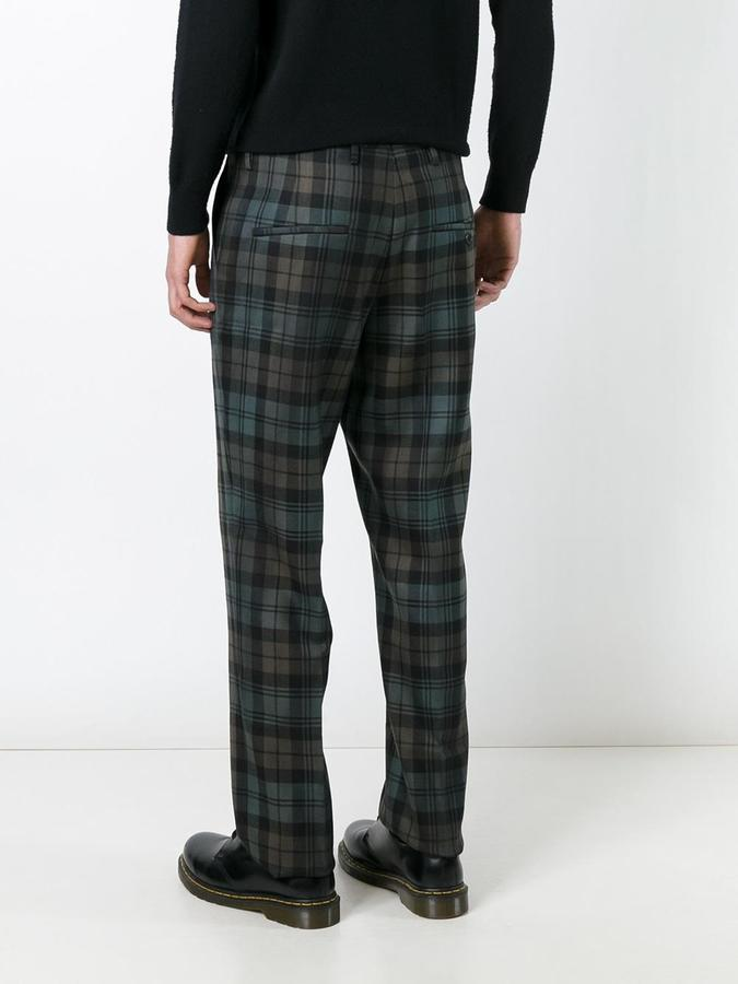 Golden Goose Deluxe Brand checked trousers