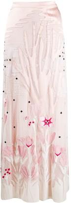 Temperley London Satin-Panelled Tulle Skirt