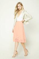 Forever 21 FOREVER 21+ Floral Applique Mesh Skirt