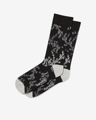 Express Fern Floral Print Dress Socks
