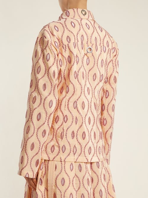 Thumbnail for your product : Marni Embroidered-eyelet Taffeta Jacket - Pink Multi