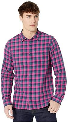 Vans Alameda II Flannel Shirt (Fuchsia Purple/Stargazer) Men's Clothing