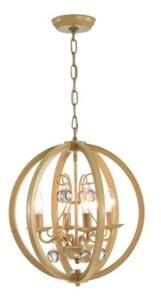 "Home Accessories Elka 17"" 4-Light Indoor Pendant Lamp with Light Kit"