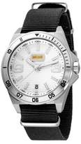 Just Cavalli Mens Black Nylon Strap With Silver Dial.