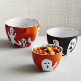 Crate & Barrel Halloween Ghost Nesting Bowls, Set of 3