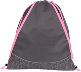 Fits Charcoal & Pink Geometric Drawstring Bag