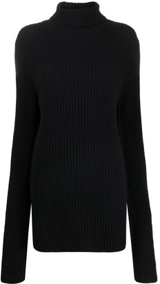 Ann Demeulemeester High Neck Knitted Jumper