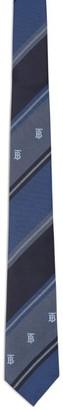 Burberry Silk Tb Monogram Stripe Tie