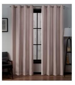 """Exclusive Home Loha Linen Grommet Top Window Curtain Panel Pair, 54"""" x 96"""""""