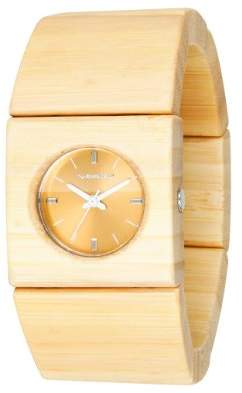 Vestal Women's Rosewood Slim Stainless Steel Japanese-Quartz Wood Strap