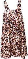 MSGM graphic leopard print dress - women - Silk - 40