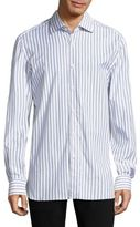 Isaia Striped Regular Fit Shirt