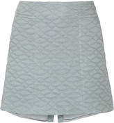 Theyskens' Theory Swick quilted cotton and silk-blend mini skirt