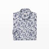 Club Monaco Slim Botanical Linen Shirt
