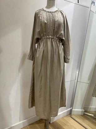 Emin & Paul - Long Sleeve Elasticated Waist Dress Khaki - s/m