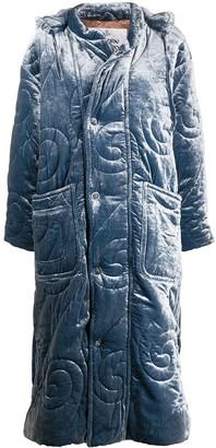 Vivienne Westwood Velvet Quilted Puffa Coat