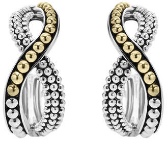 Lagos Sterling Silver & 18K Infinity Twist Hoop Earrings
