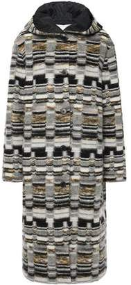 Missoni Reversible Boucle-knit And Shell Hooded Coat