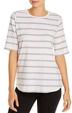 Eileen Fisher Striped Elbow-Sleeve Tee