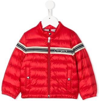 Moncler Enfant Padded Logo Stripe Jacket