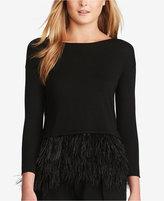 Polo Ralph Lauren Feather-Trim Sweater