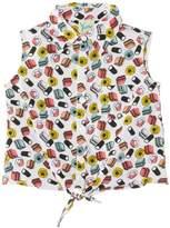 Yumi Girl's Bon Bon Tie Shirt Blouse