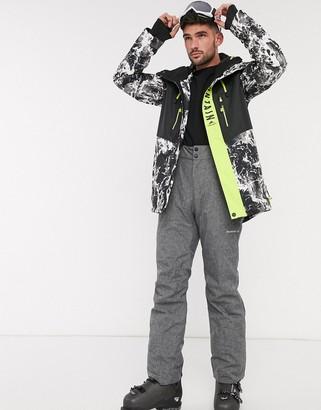 Surfanic Evo ski jacket in white camo print