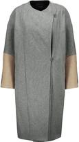 Maje Oversized color-block wool coat