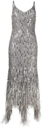 Amen Asymmetric Bead-Detailed Dress