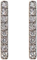 Susan Foster White Gold Diamond Bar Earrings