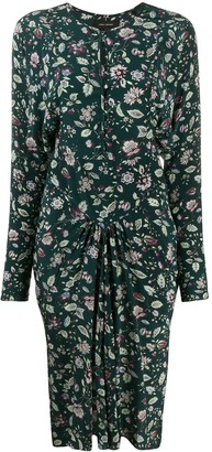 Isabel Marant Floral-Print Fitted Midi Dress