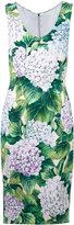 Dolce & Gabbana hydrangea print dress - women - Silk/Spandex/Elastane/Viscose - 38