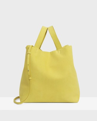 Theory Medium Simple Tote in Suede