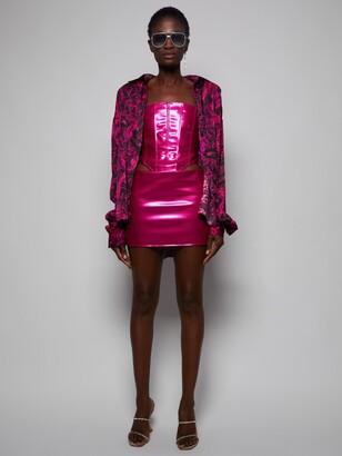 LaQuan Smith Hot Pink Low Slung Mini Skirt