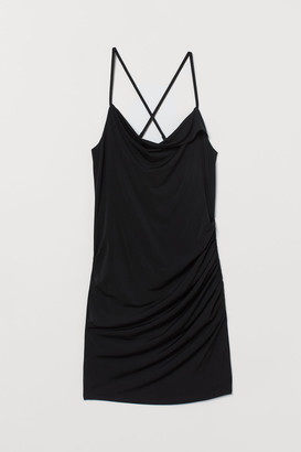 H&M Draped Mini Dress - Black