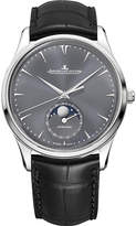 Jaeger Le Coultre Q1363540 Master Ultra Thin Moon white-gold and leather watch