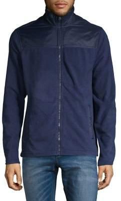 Core Life Textured Stand-Collar Full-Zip Jacket