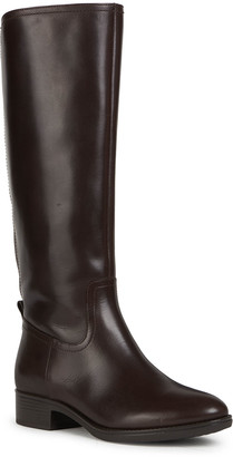 Geox Felicity 38 Tall Napa Leather Riding Boots